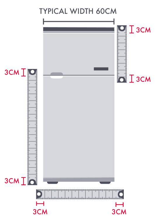 How to measure a fridge freezer
